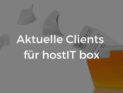 Aktuelle Clients für hostIT box